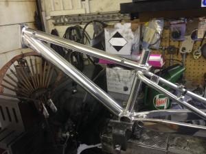 Polished BMX Frame